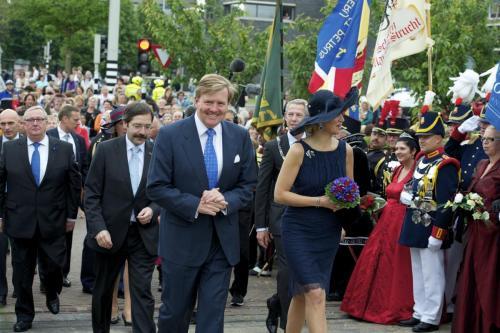 2013: Koning Willem-Alexander en Koningin Maxima bezoeken de provincie Limburg op 12 juni.
