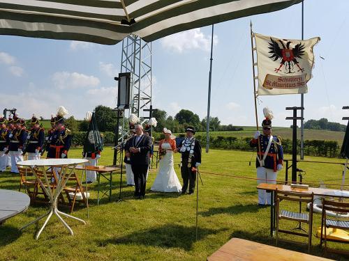2018: Opening koningsvogelschieten door burgemeester Jan Schreijen